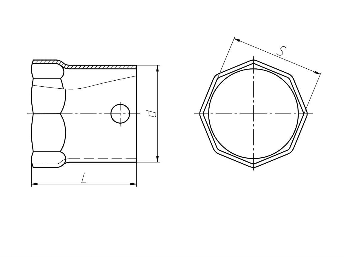 Чертеж Ключи гаечные торцовые трубчатые S82, 104, 110, 115 с внутренним восьмигранником односторонние