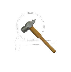 Молотки слесарные с круглым бойком и деревянной рукояткой искробезопасные